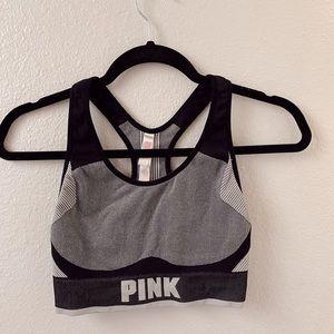 VS PINK Sports Bra Grey and Black